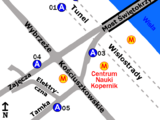 Zespół przystankowy Metro Centrum Nauki Kopernik