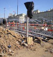 Plac Bankowy (remont torowiska W-Z,14.06)