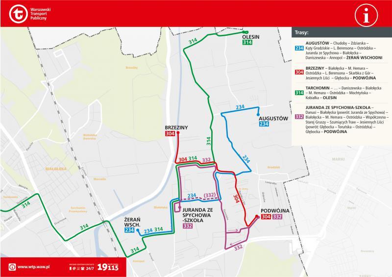 Zmiany w trasach autobusów od 21 października 2019