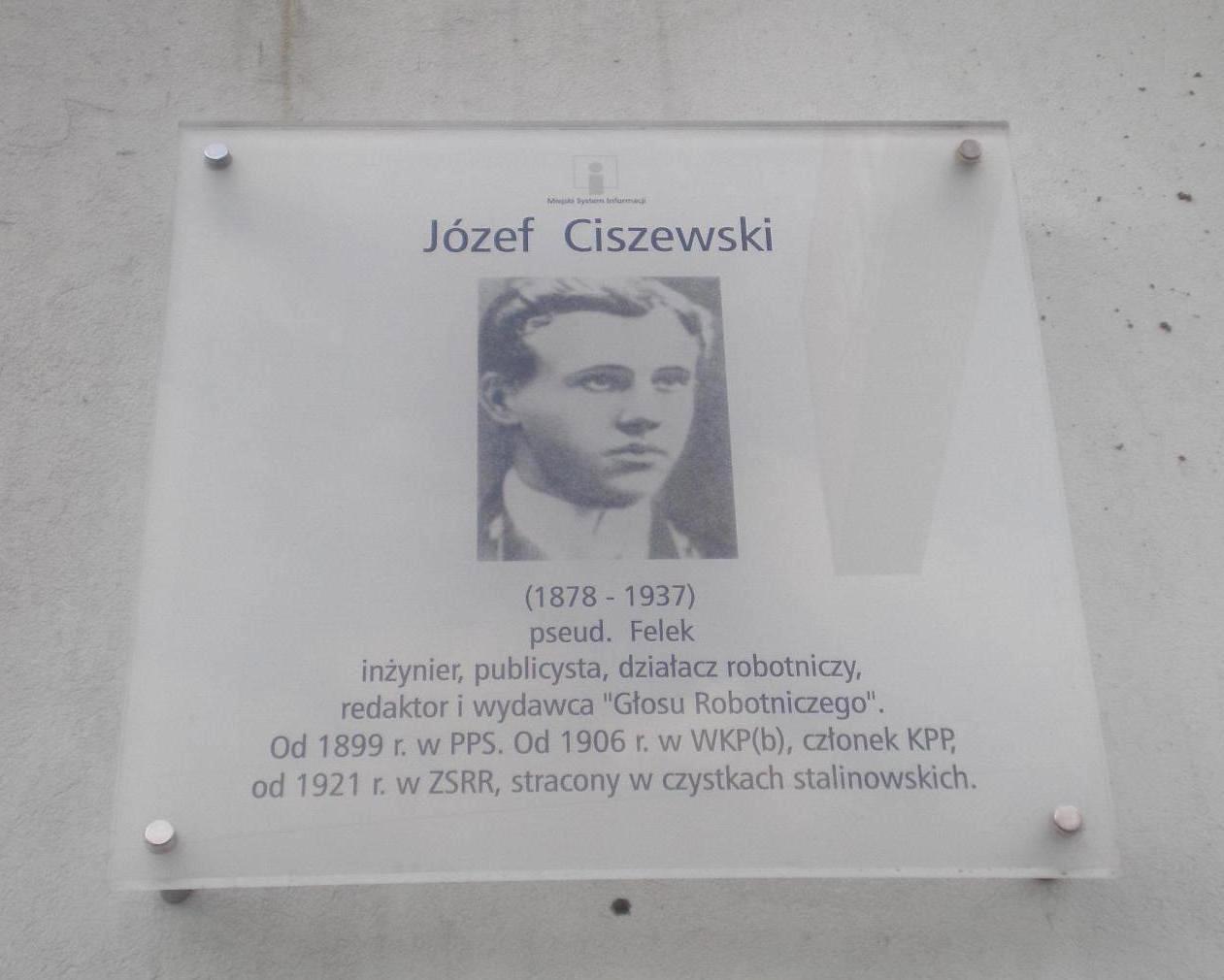 Zmiana patrona ulicy Ciszewskiego
