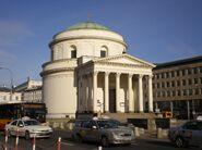 St Alexander church in Warsaw