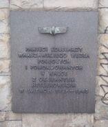Tablica pamięci zamordowanych kolejarzy Dworzec centralny