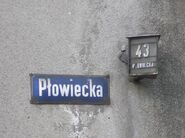 Plowiecka (stara tabliczka)