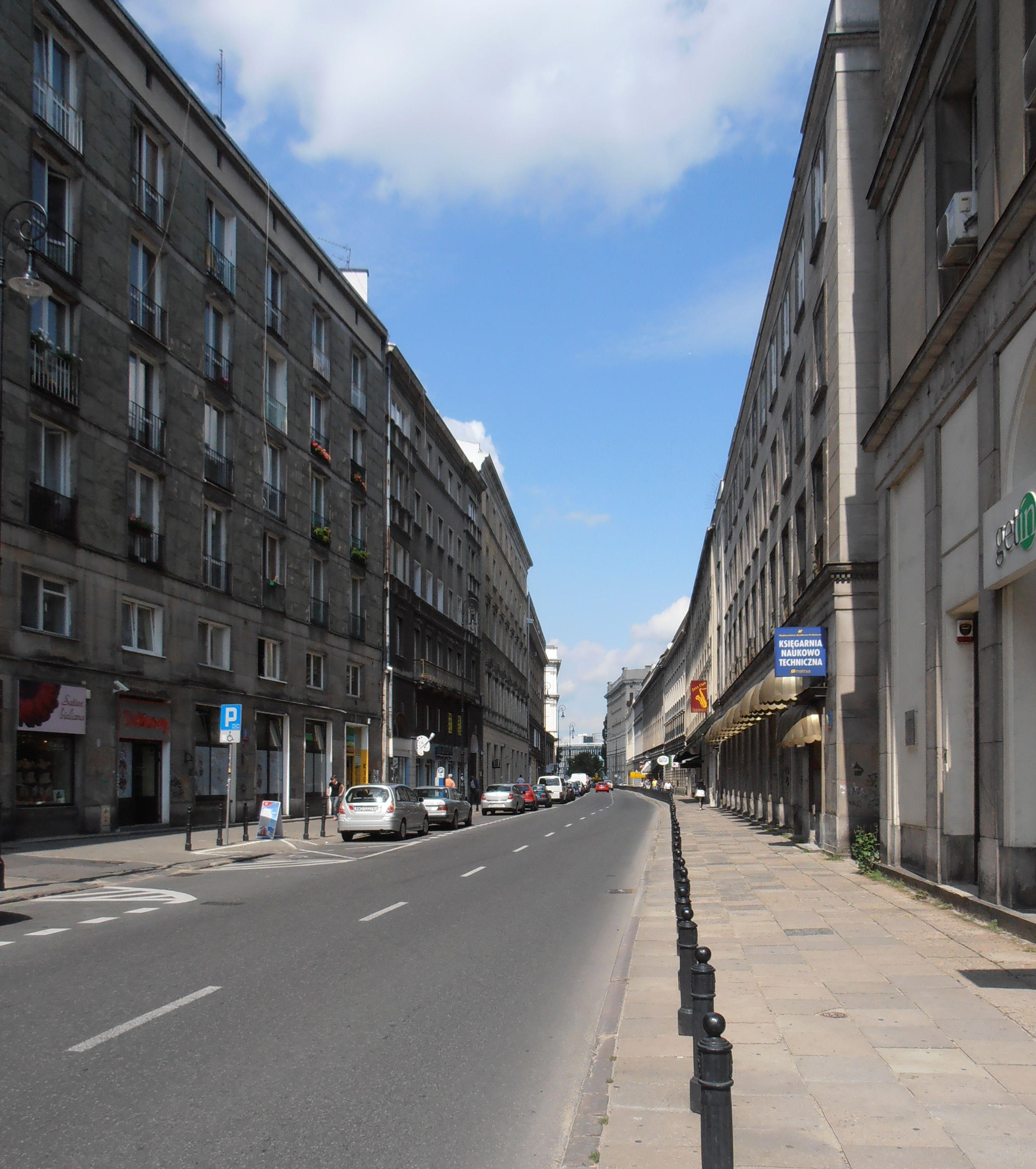 Ulica Mazowiecka w Śródmieściu