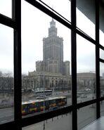 Pałac Kultury i Nauki (od Emilii Plater, budynek nr 51)