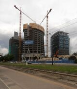 Warsaw Spire w budowie 2