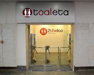 2theloo nowe toalety wejście Dworzec Centralny