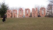 Park Bródnowski (napis Bródno)