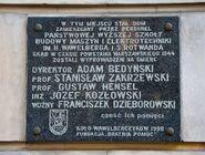 Tablica Szkoła Wawelberga ul. Mokotowska 6A
