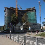 Warsaw Spire, budowa, widok od Łucka