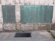 Tablice na frontowej ścianie Trasy W-Z od strony wschodnie