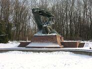 Pomnik Fryderyka Chopina zimą