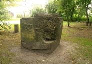 Park Leśnika (stare betonowe fragmenty)