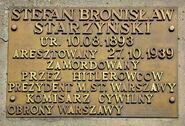 Tablica Stefan Starzyński Pomnik Barykada Września