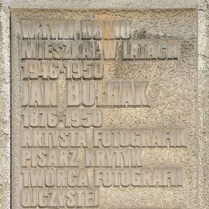 Tablica Jan Bułhak ul. Krasińskiego 18.JPG