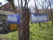 Potoki, Bocheńska (stare tabliczki)
