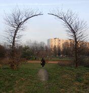 Park Bródnowski (rzeźba Raj)