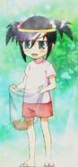 Tomoko as a child