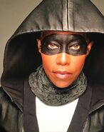 BTS of Regina King in Sister Night Costume
