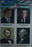Close Up of The Four Most Important Presidents Poster