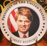 President Robert Redford on a plate