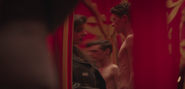 A Young Wade Shirtless Inside house of Mirrors