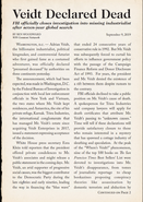 Veidt Declared Dead Page 1