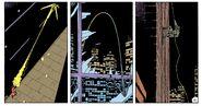 Rorschach uses the grappling hook gun - Watchmen