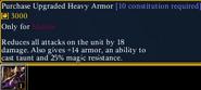 Up heavy armor