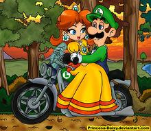 Luigi and daisy sunset ride by princesa daisy-d36yeuy.jpg