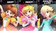 SSBU Daisy VS Peach VS Rosalina!!