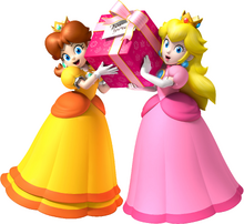 Peach and Daisy Present For You.png