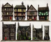 Hamlyn Village Residential Houses Concept Art 1