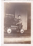 Joe on his wagon