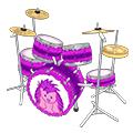Electric Purple Drum Set