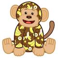 Banana Print Monkey Virtual