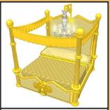 Golden Canopy Bed