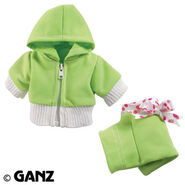 Plush Clothing Lime Track Suit
