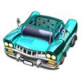 Blue Avenue Coupe Car