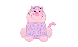 Bubblegum Cheeky Cat