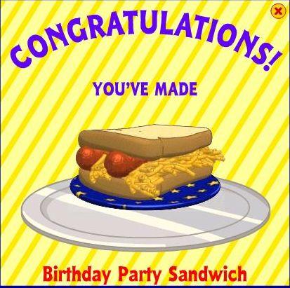 Birthday Party Sandwich