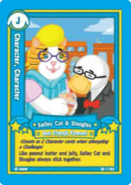 Salley cat and stoogles card