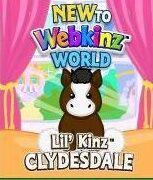 New to Webkinz World Lil Kinz Clydestale Horse