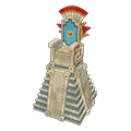 Aztec temple throne