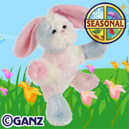 Plush Cotton Candy Bunny