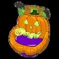 Spooky Jack O'Lantern Chair
