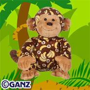 Banana Print Monkey Plush Pet