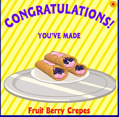 Fruit Berry Crepes