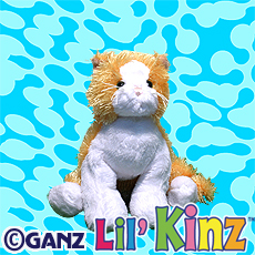 Lil'Kinz Gold and White Cat