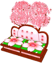 Cherry Blossom Bird Loveseat